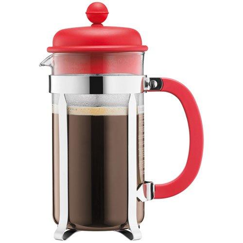 BODUM Caffettiera 8 Cup French Press Coffee Maker, Red, 1.0 l, 34 oz - £7.50 Prime / £11.99 Non Prime @ Amazon