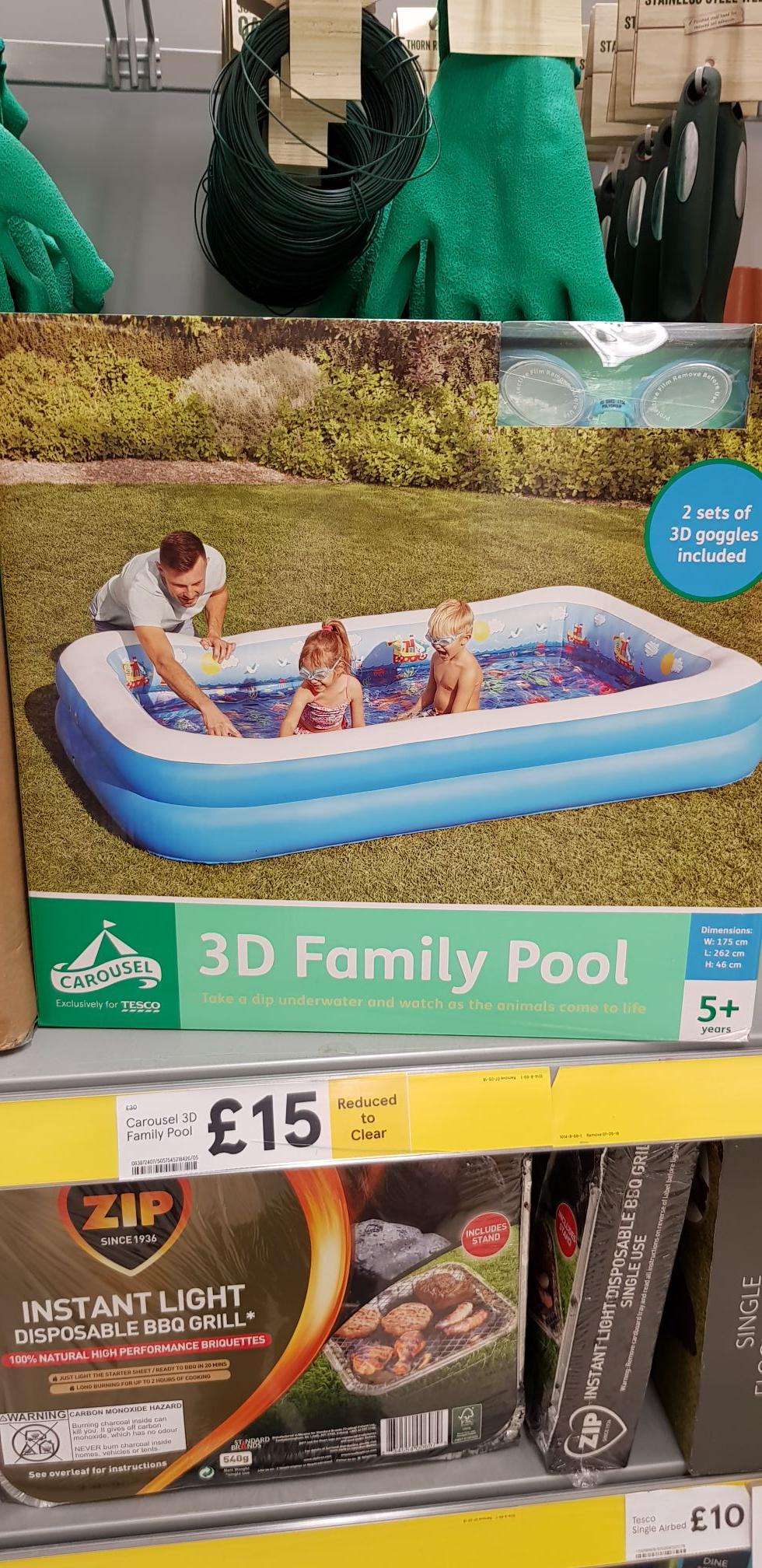 LARGE 3D FAMILY PADDLING POOL £15 - Tesco