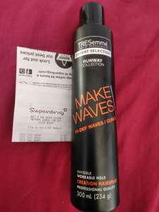 TRESemmé make waves creation hairspray 300 ml only 60p in Superdrug