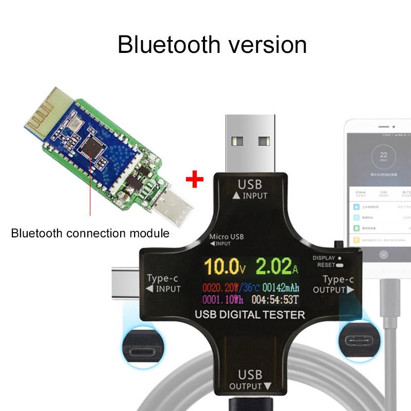 USB tester wireless Bluetooth DC voltmeter current voltage USB-C PD meter volt amp ammeter detector power bank charger indicator (was $16.21) $12.90 delivered @ Aliexpress.com