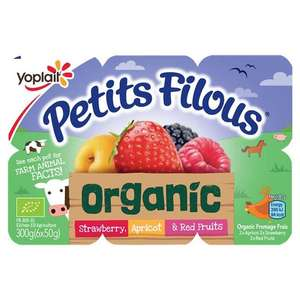 Organic petit filous 6 pack yogurt 3 for £1 instore at heron
