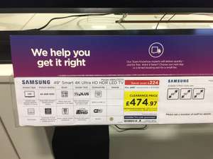 Samsung 49MU7070 4K TV instore at Currys for £474.97
