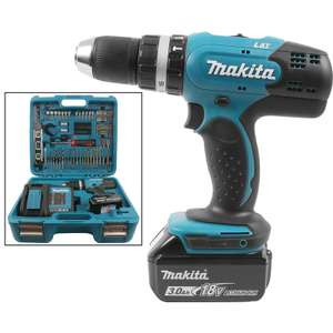 Makita DHP453SFTK 18V 3.0Ah LXT Cordless Combi Drill & 101 Piece Accessory Kit @ Tool Station £114.98