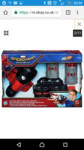 Spider-Man Homecoming Rapid Reload Blaster with 6 nerf Darts At Argos eBay outlet £5.99