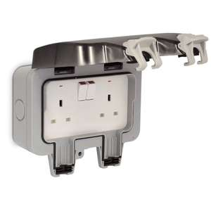 Masterplug Outdoor Socket 2 Gang Switched IP66 £7. 50 @ Wilko