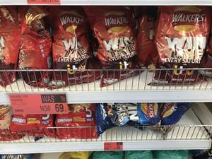 Walkers 185g Big Sharing Bag Cheese & Onion or Ready Salted 69p @ B&M