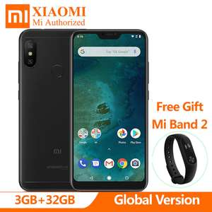 In Stock Global Version Xiaomi Mi A2 A 2 Lite 3GB 32GB Android One + Xiaomi Mi Band 2 £134.02 @ Xiaomi Authorized store / Aliexpress