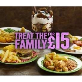 Treat the family for £15 at Hungry Horse if you can get past the sticky tables.