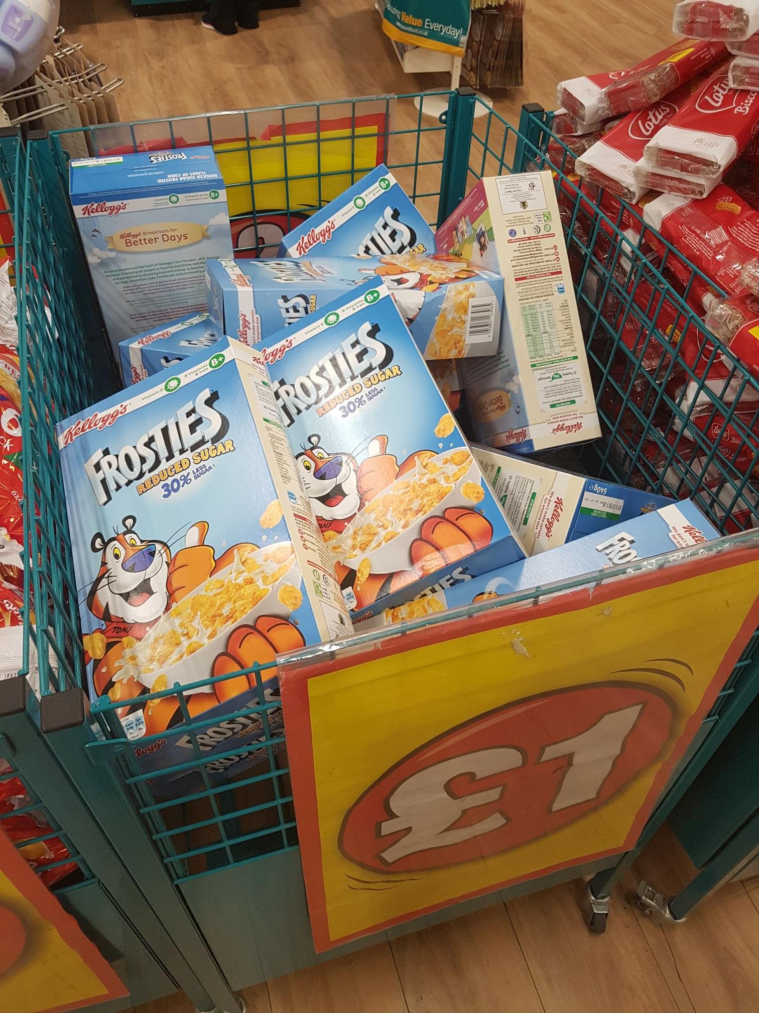 Frosties 640g 30% reduced sugar £1 @ poundland