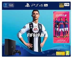 PS4 PRO 1TB with FIFA 19 bundle @Smyths / ShopTo / SimplyGames - £349.85