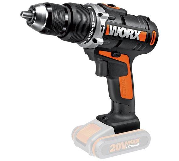 Worx WX372.9 Cordless Hammer Drill (Bare) @ Argos - £23.99 (free C&C)