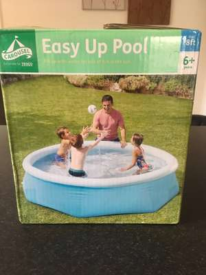 Tesco carousel easy up 8ft pool - £12.50 instore (Newton Aycliffe)