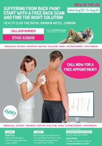 Free Back Scan London - Aug 22 to Aug 24