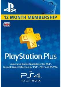 PlayStation Plus 12 Months £31.99 (£30.39 with 5% off code) @ CdKeys