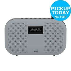 Bush Portable Stereo DAB Radio - Grey @ Argos eBay £28.94 delivered or Free C&C & Save (£3.95)