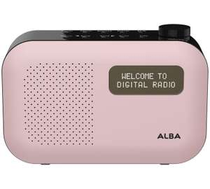Alba Mono DAB Radio in Pink (Blush) from Argos £17.99 (other colours available  (Grey£19.99 and Blue £22.99)