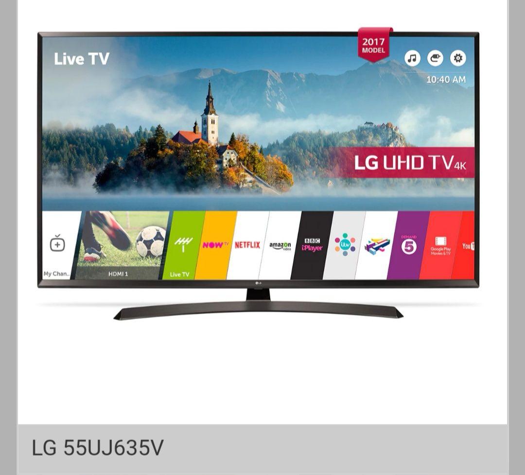 "LG 55UJ635V 55"" 4K Ultra-HD Smart LED TV in Black, Multi HDR £499.95 @SonicDirect"