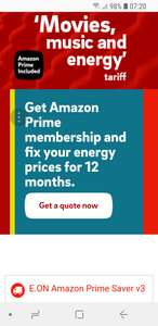E.ON Amazon Prime Saver - switch to this tariff and free prime for 1 year.
