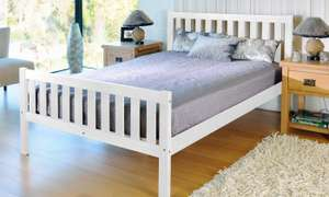 Naples Solid Pine Bedframe - Double £100 With Free Delivery at Groupon