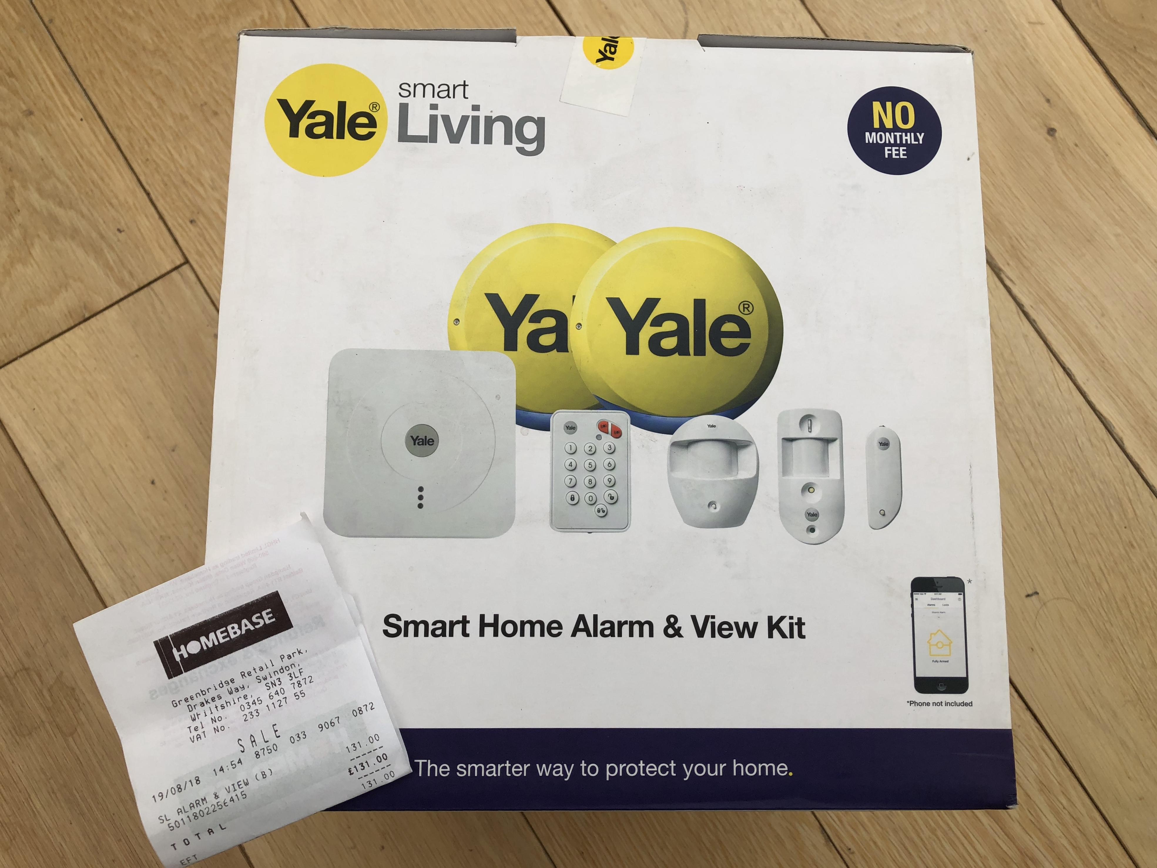 Yale Smart Home Alarm & View Kit - SR-330 £131 instore @ Homebase