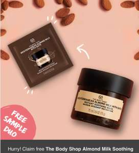 FREE Mediterranean Almond Milk with Oats Instant Soothing Mask [DUO PACKETS] @TheBodyShop