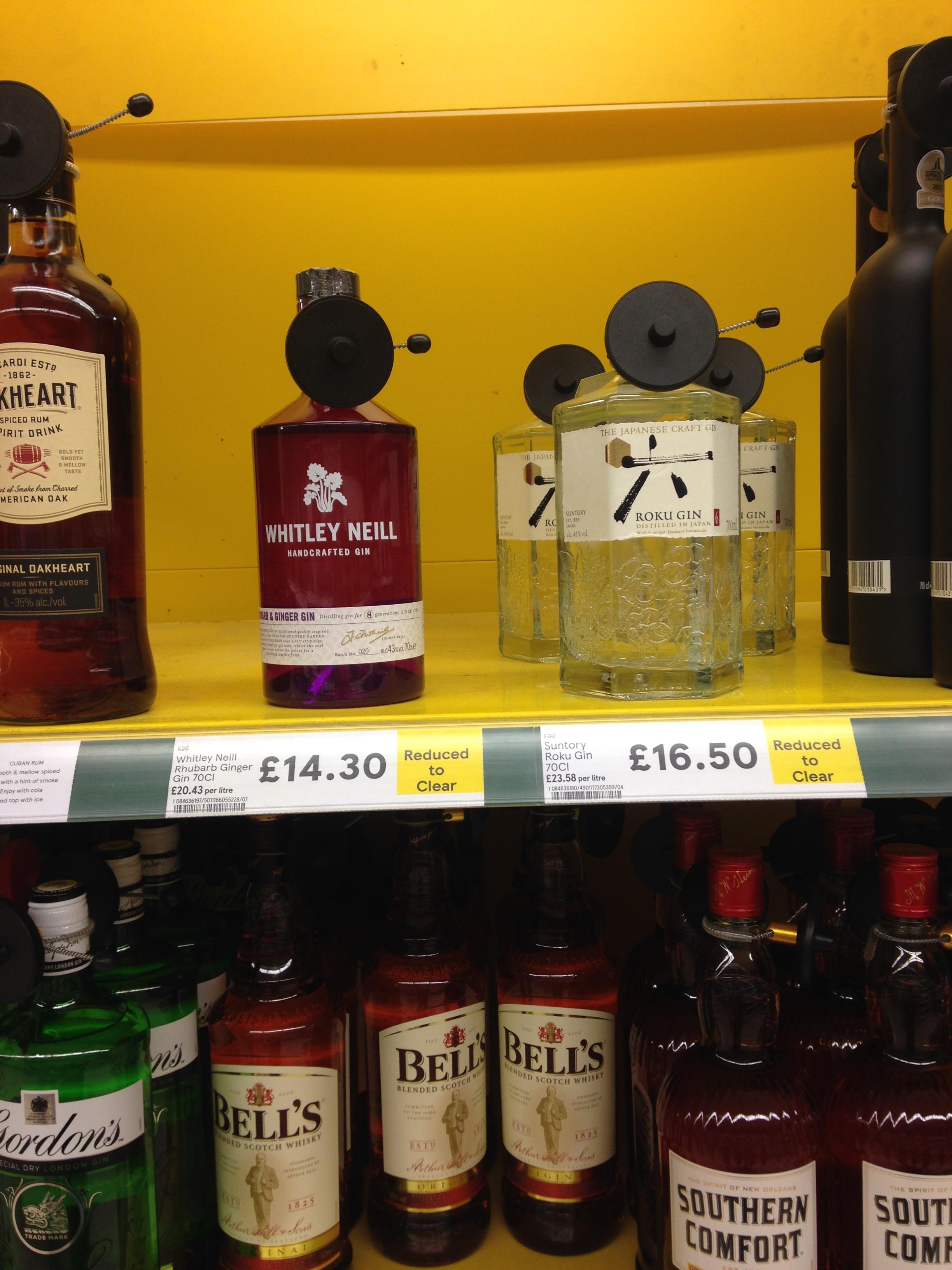 Suntory Roku gin 70cl £16.50 reduced to clear tesco