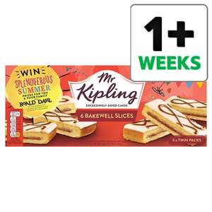 Selected Mr Kipling Cakes 6 packs half price in Tesco starting from 80p - in-store and online