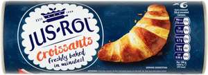 Jus Rol Croissants (6 per pack - 350g) 40p Or 3 For £1 @ Heron Foods