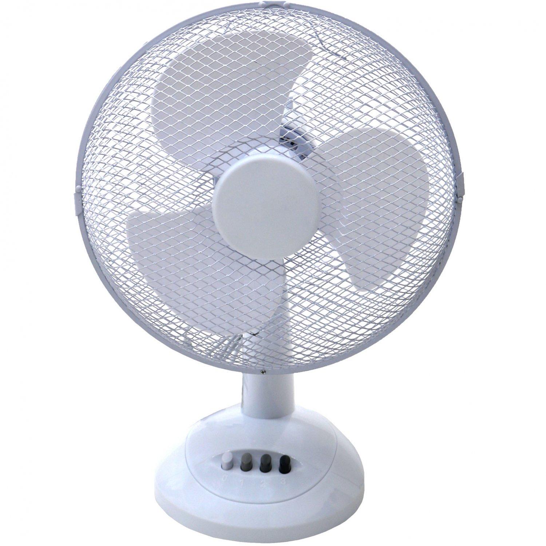 """12"""" Oscillating White Desk Top Fan £15.99 @ Oypla"""