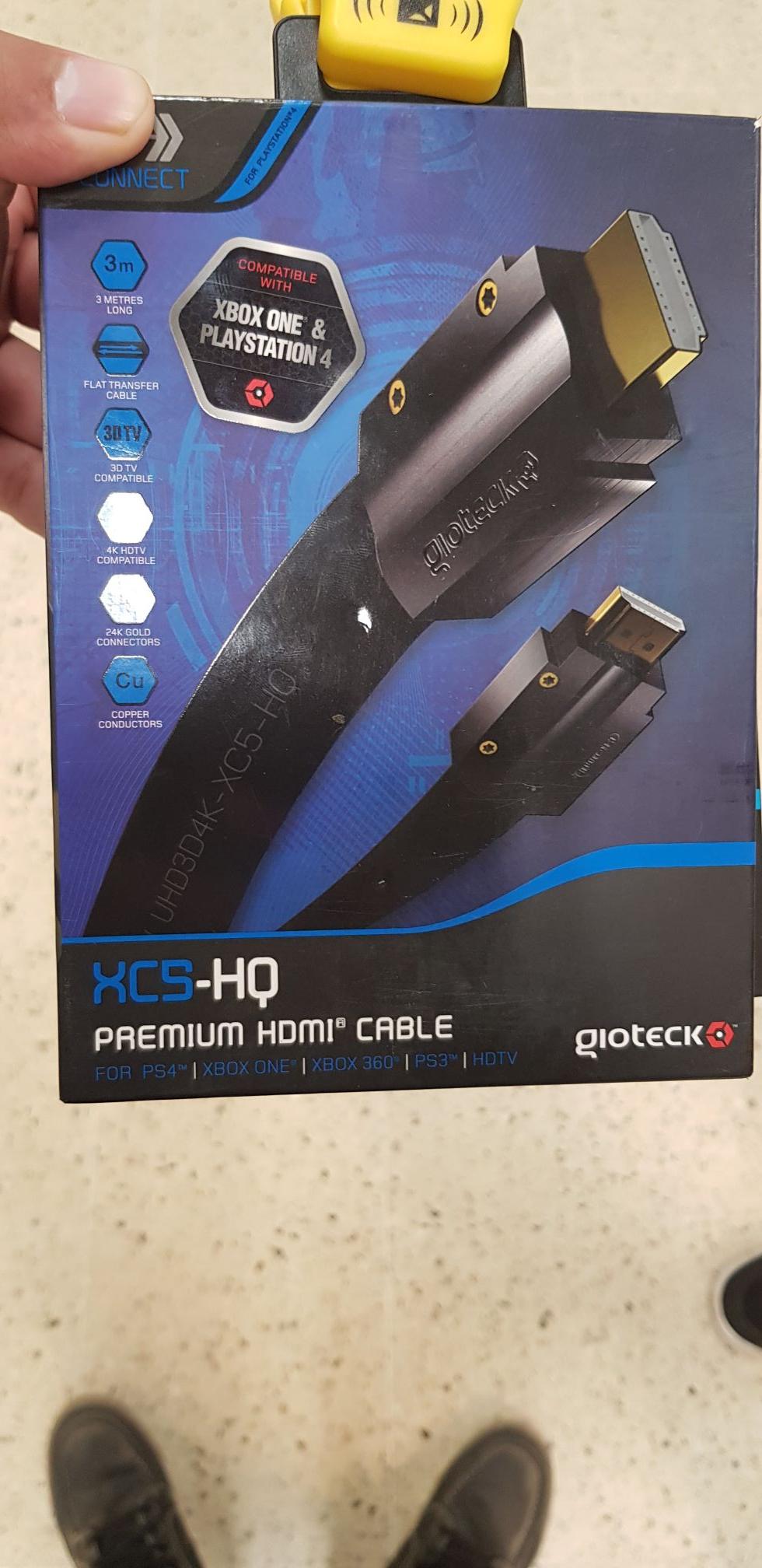 XCS HQ PREMIUM HDMI £3.75 @TESCO HANDSWORTH