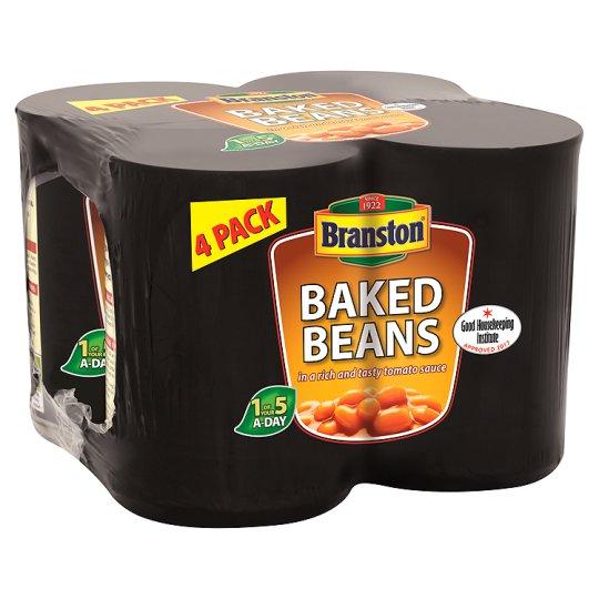 Branston Baked Beans In Tomato Sauce 4 X 410G £1.50 @ Tesco