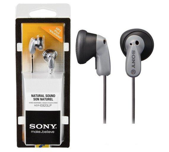 Sony MDRE820LP In-Ear Headphones - Black @ Argos £3.49 (Free C&C )