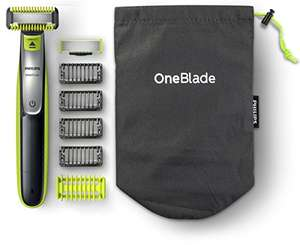 Philips OneBlade Hybrid Body and Face Trimmer with 4 x Lengths, 1 Extra Blade and Travel Pouch - QP2630/30 £39.99 @ Amazon