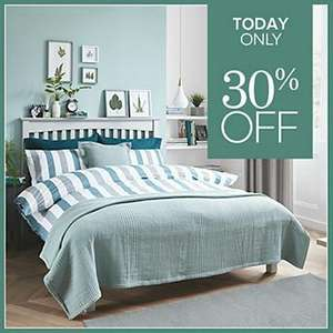 TODAY ONLY: 30% OFF M&S BEDDING