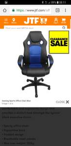 Gaming Sports Office Chair Blue £38.02 + £4.99 delivery at JTF