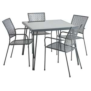 Metal Grey Dining Set 4 Seater £75 instore Wilko