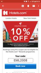 10% off with code via app @ Hotels.com