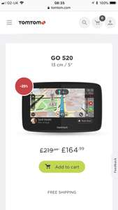 TomTom upto 35% off - Go 520 for £164.99 plus free delivery