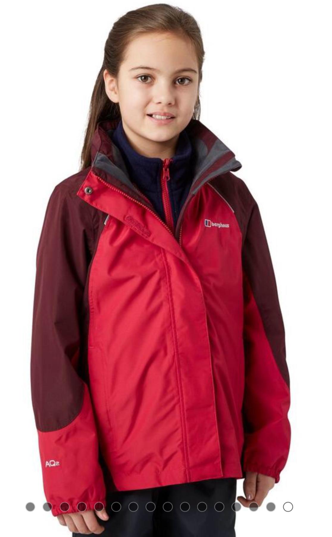 BERGHAUS Girls' Carrock 3 in 1 Jacket £38 RRP £70 @ millets