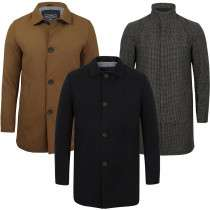 Men's Wool Blend Coats - £28.80 delivered with Code @ Tokyo Laundry