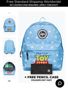 Free Pencil case with Hype X Disney backpacks and 20% off