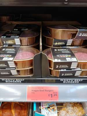 Wagyu Beef Burgers Aldi Doncaster £1.99