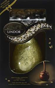 Lindt Lindor 60 Percent Dark Shell Egg, 285 g, (Pack of 4) amazon prime £10.58 £4.49 delivery