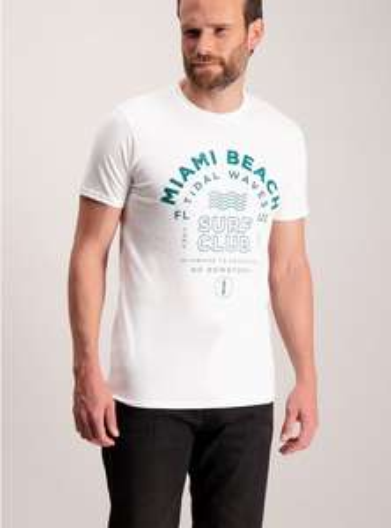 White Miami Beach Printed T-Shirt - M get £7.00 at argos
