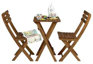 Cafe Set Folding Table and 2 Chairs £29.99 @ Clasohlson (+£4.99 P&P)