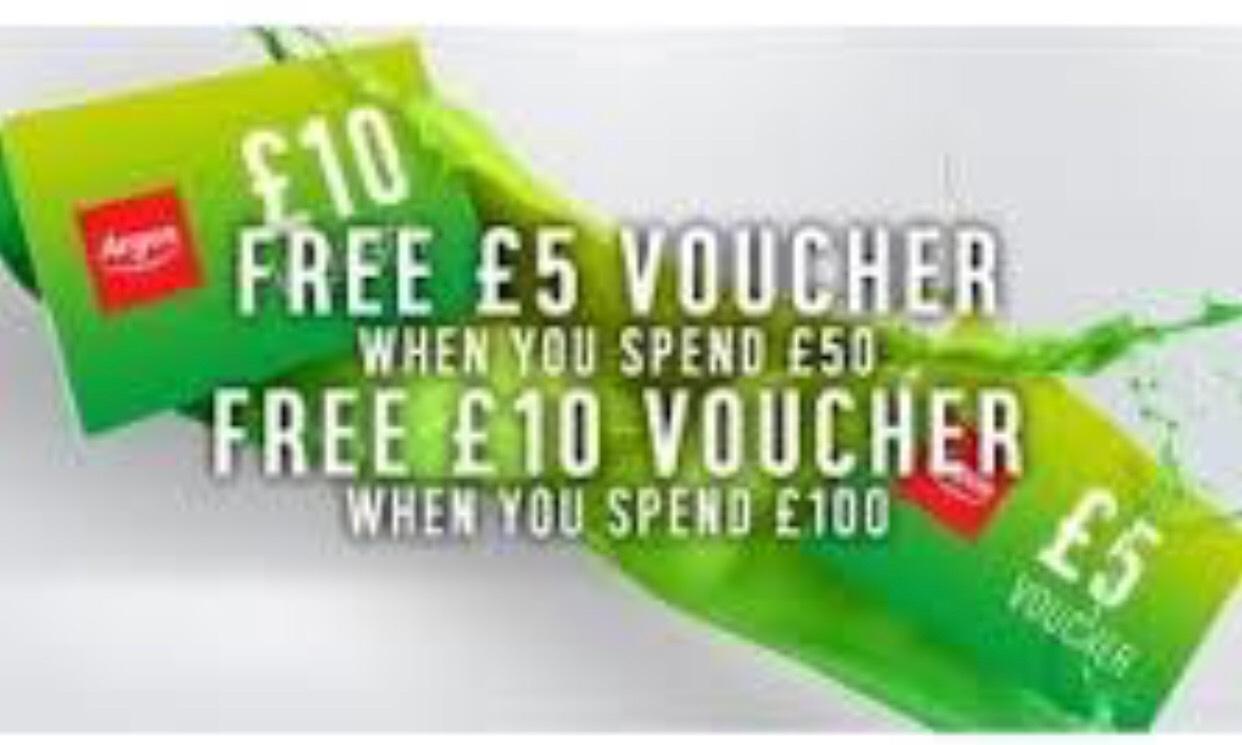 £5 Argos Voucher when you spend £50, £10 Argos Voucher when you spend £100 @ Argos