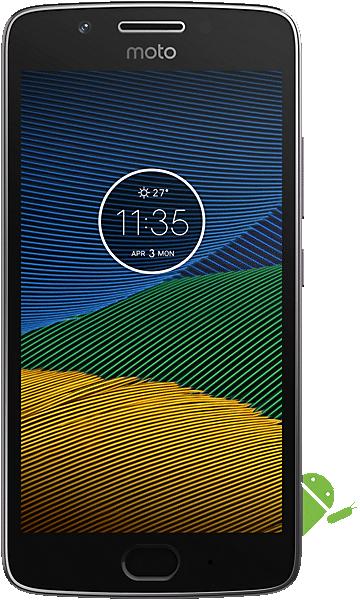 Motorola Moto G5 16GB Grey + Free Delivery (+ £5.05 At Topcashback) £99 @ Unshackled