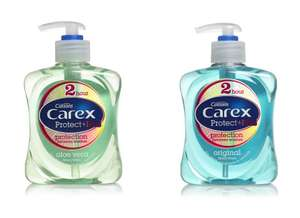 Carex Protect+ or Care+ Handwashes 250ml - 60p each @ Wilko