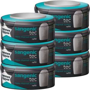 Tommee Tippee Sangenic Refill Cassettes 4 pack + 2 free £21.99 @ Boots