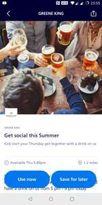 Free Drink at Greene King Pubs via O2 Priority